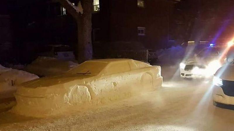 voiture en neige